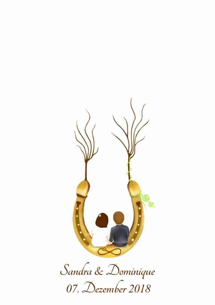 Wedding Tree Hufeisen Fingerabdruckbaum