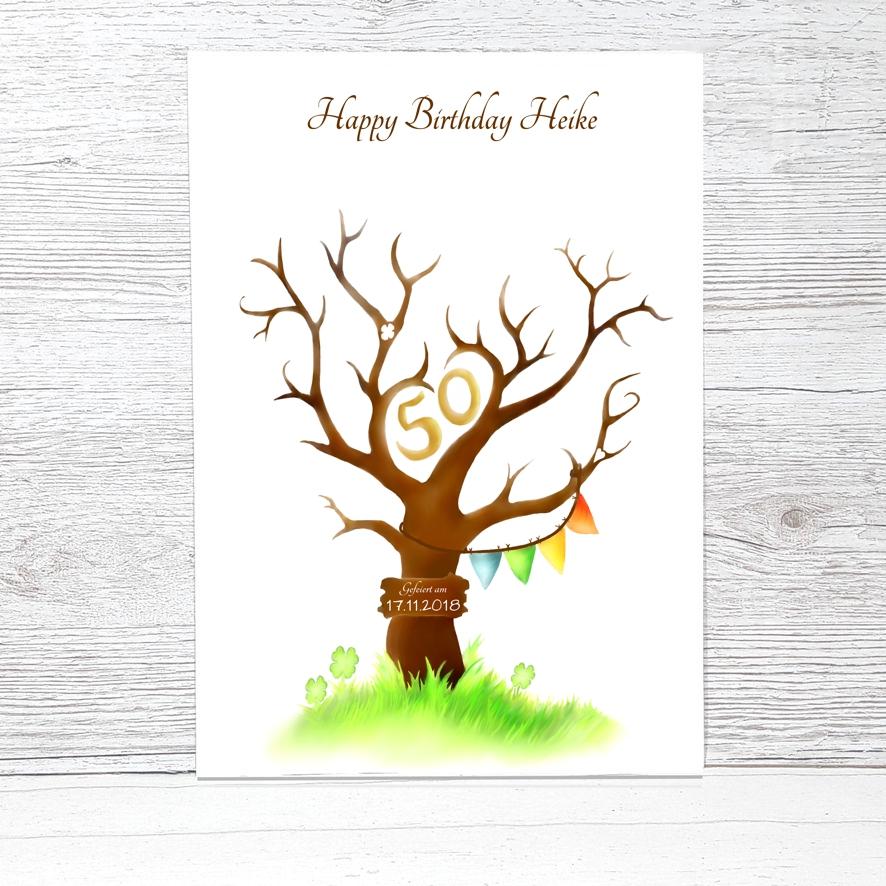 Fingerabdruckbaum Geburtstag Fingerabdruckbaum