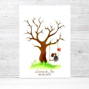 Wedding Tree Fingerabdruckbaum Hochzeit Gastebuch Geschenk